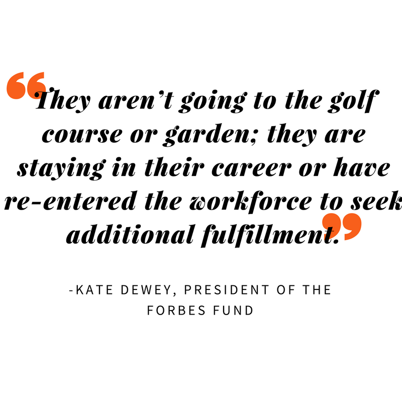 -Kate Dewey, President of the Forbes Fund